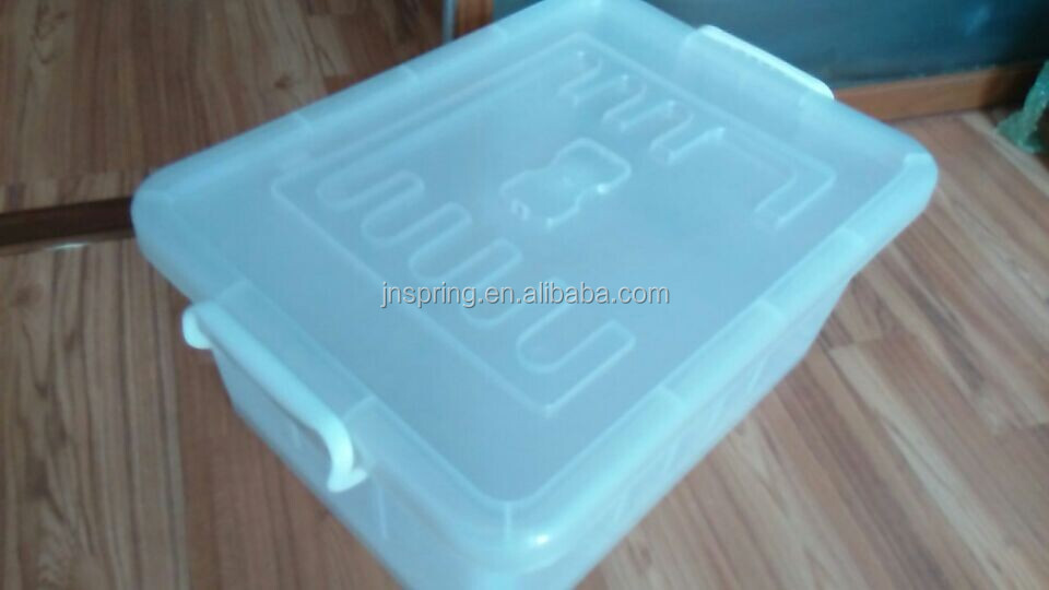 plastic container for clothese with locked lid in PP material