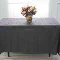 Crinkle polyester banquet table cloth