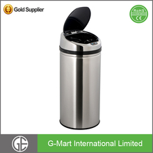 Large Stainless Steel Sensor Rubbish Garbage Bin For Airport