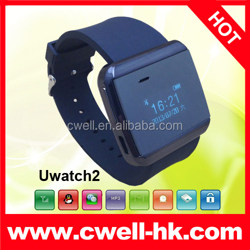 Uwatch2S Ultra slim bluetooth watch,ringing reminder&display caller ID,sync with Android smartphone,Gmail Facebook notification