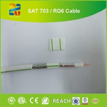 China high quality low loss 75 ohm coaxial cable rg6/rg6-u/rg6u electric cable price for satellite