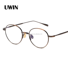 Vintage Style Clear Lens <span class=keywords><strong>Occhiali</strong></span> Rotondi Oro <span class=keywords><strong>Nero</strong></span> Metal Frame <span class=keywords><strong>Occhiali</strong></span> Da Vista Unisex