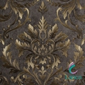 waterproof damask PVC wallpaper for home decoration
