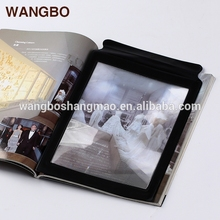 Full page A4 paper folding magnifying the appearance of high-end atmosphere reading glasses