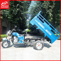 Made in China 200cc Engine Blue Crago Motor Tricycle Cheap Sale