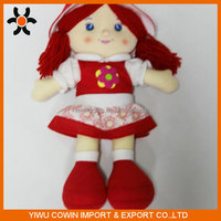 Cheap Red Plush Doll for Girls with clothes and hat
