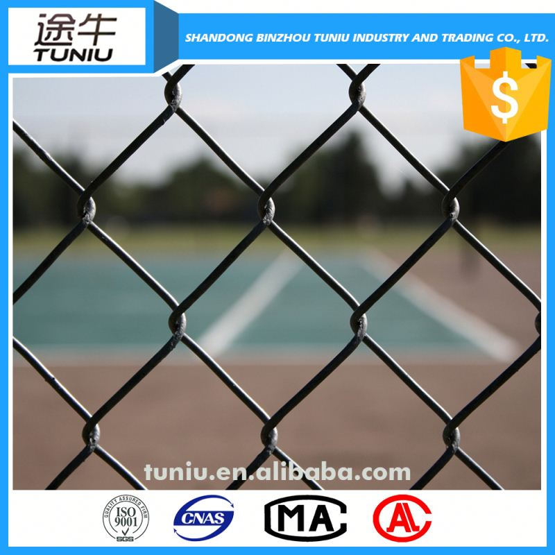 pvc coated thick wire chain link fence for baseball ground