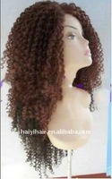 African Amercian Human Hair Kinky Curl Full Lace Wig