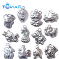 New fashion Chinese 12 Zodiac silver pendants charms