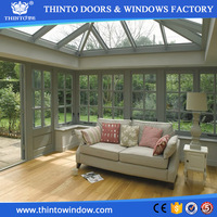 Elegant design aluminum alloy sunroom glass roof for garden