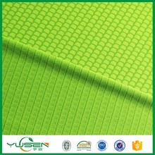 polyester weft knit fabric,honeycomb/pique/dot pattern fabric,elstane fabric