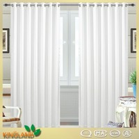 China Textile 2016 New Fashionable voile stripe white european sheer curtains fabric