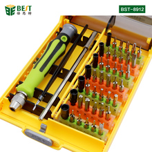 BST-8912 45pcs Magnetic Torx/Slotted/ Phillips Multi Function Interchangeable Screwdriver Set with plastic case