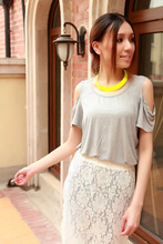 Factory wholesale popular newest Fluorescent color collar necklace