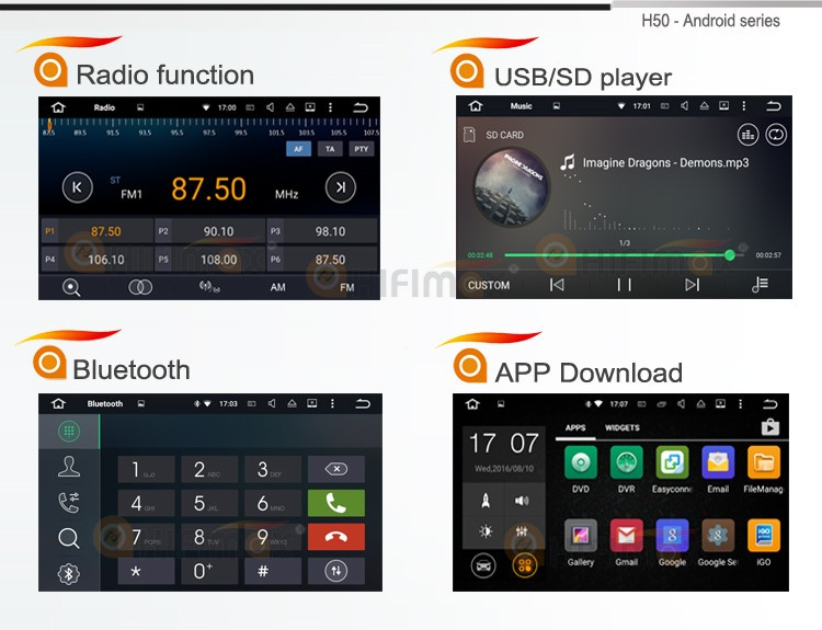 7 radio-usb sd-bt-H50 android 5 with logo