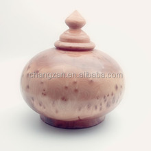 New Design Lacquer Smooth surface Root Carved Art Treasure Pot