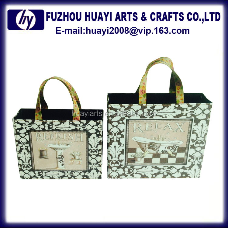 Gift decoration pu basket beauty gift basket storage
