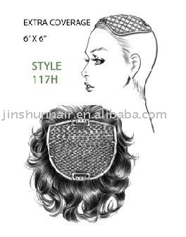 100% Human hair Extra Coverage /Human Hair Wiglet
