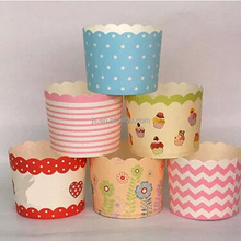 Rainbow Greaseproof Paper Mini Cupcake/Muffin Case Baking Cups