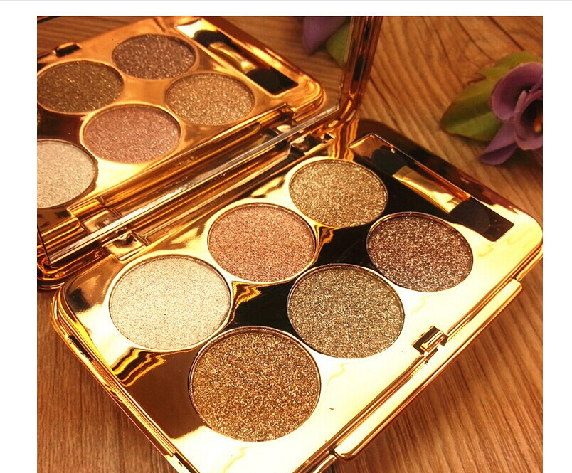 Wholesale authentic 6 color flash end diamond eye shadow color diamond shining make-up eye shadow palette