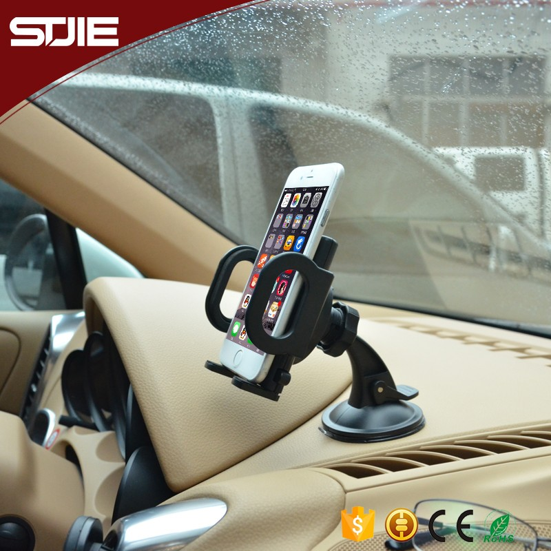 STJIE - ABS Plastic Universal 360 degree Rotatable Portable Car Holder,Mobile Phone Holder,holder stand for car