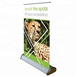 Mini Table Advertising Aluminum Roll Up Banner Stand A4 / A3