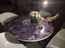 Amethyst geode ceramic tile looks like marble for counter top wall and flooring /marble slab/granite countertop