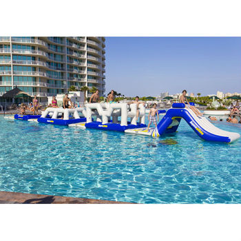 Lake inflatable water park games