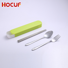 Travel Camping Cutlery Set With Case