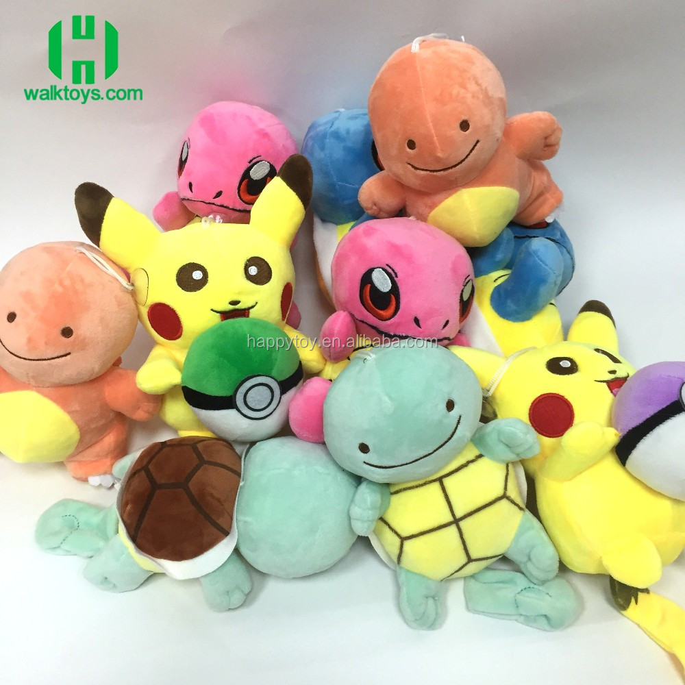Super soft Plush stuffed toys !! HI CE custom plush stuffed toy pickachu turtle doll toy manufactuer direct sale