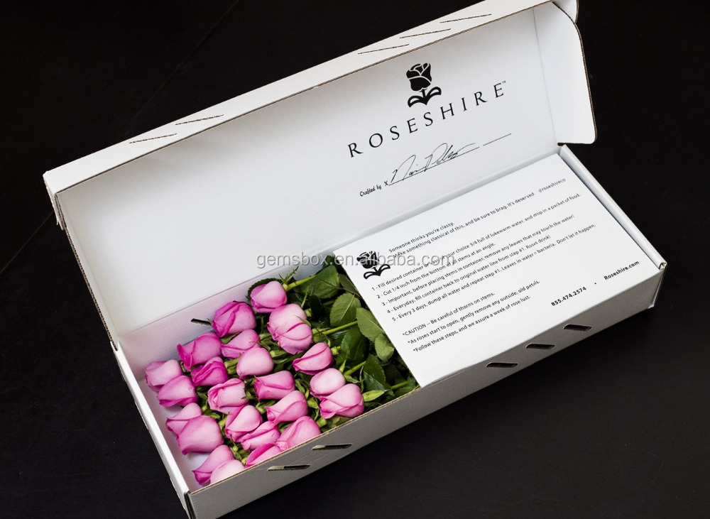 24pcs rose flower shipping delivery <strong>box</strong>
