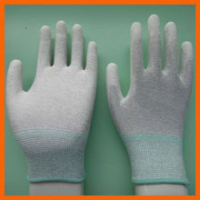 esd palm fit gloves with pu coated palm for safet and work
