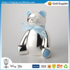 OEM and OEM fancy Bear Small Silver Money Bank for Decoration