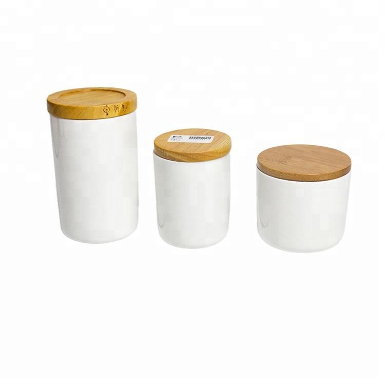 Household Solid Color Round U003cstrongu003eshapedu003c/strongu003e Airtight Ceramic U003cstrong
