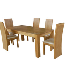 china Simple and comfortable dining table and 6 chairs set wood furniture
