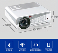 LED86+ Mini High Definition 2800 lumens Projector, School, Office ,Home Using LED Projector wireless video projector with wifi