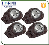 Solar Lighting Solar Outdoor Garden LED Rock Spot Light Resin Solar light