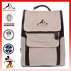 Unisex Leather Canvas Laptop Schoolbag Rucksack Fit 17 inches Laptop School backpacks used bag(ES-H137)