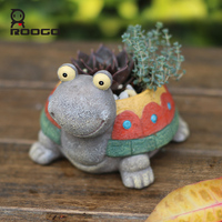 ROOGO Resin Flower Pots Home Garden