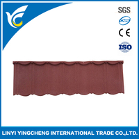 stone coated metal tiles roofing / Colored roof tiles of modern design ( Classical roof tile)