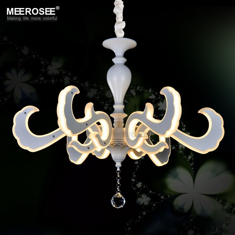 Home Decorating Ideas White Modern Chandelier, LED Lamp for the House Low Ceiling Chandelier MD81779-L6