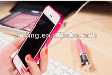 cross line metal aluminum bumper case for Iphone 4s /5