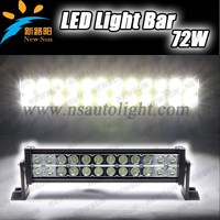 Led Driving Light 13.5 Inch 72w Curved/Straight Car 4x4 Led Light Bar
