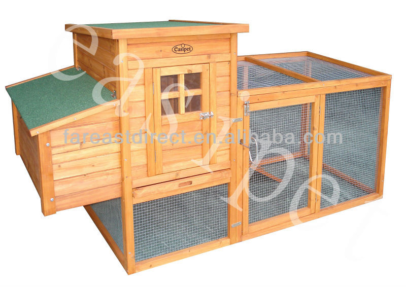 Chicken Coop Hen House Wooden Poultry Run