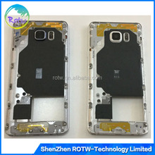 Original OEM Back Housing Bezel Middle Frame with Side Buttons + Glass Camera Lens for Samsung Galaxy Note 5 N920P N920V N920A