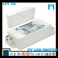 12V 24W dc 2000mA LED drive power supply for LED light with CE FCC KCC UL ROSH