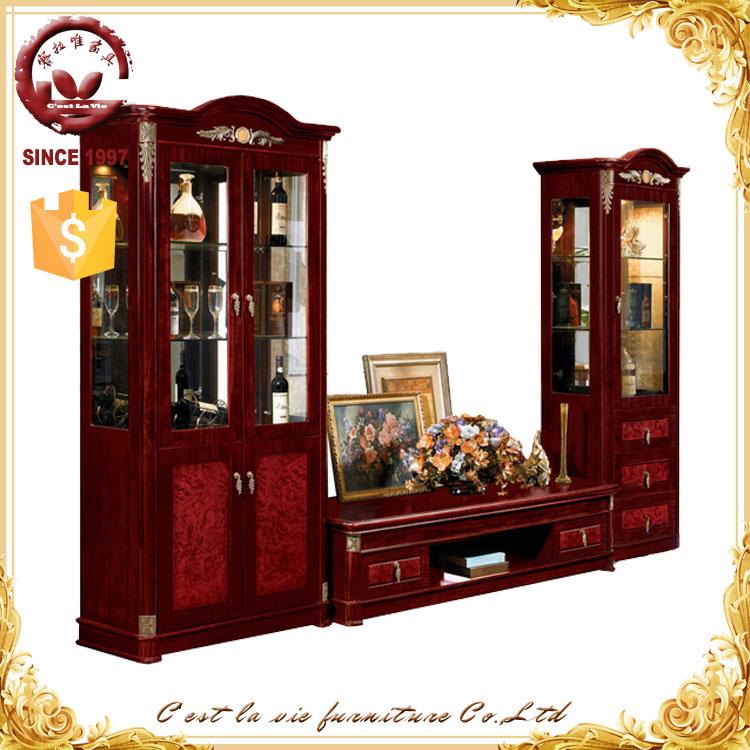 living room tv hall furniture antique design wooden tv cabinet marble