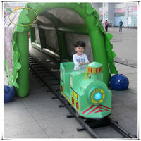 Manufacturer supply amusement park electric ride on train with railway