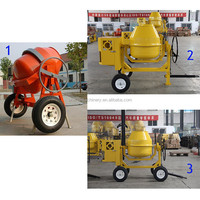 CM350 concrete mixer with diesel gasoline engine with 4 wheels Concrete Mixer Rubber Tire