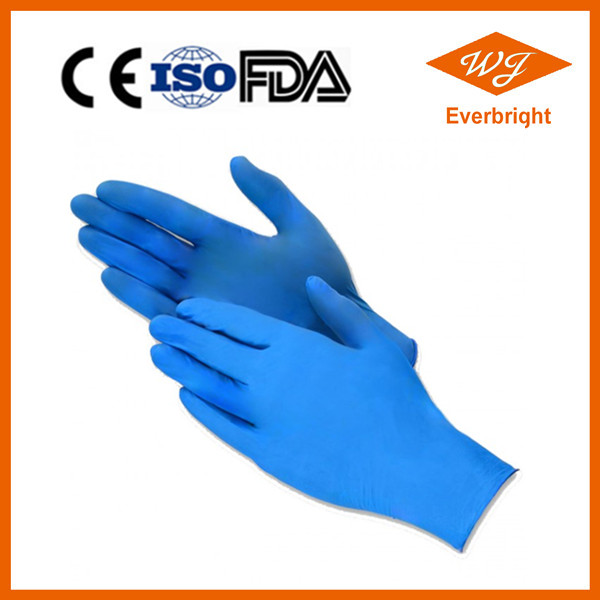CE approved Blue / Black color Nitrile Exam gloves , Disposable Nitrile gloves price